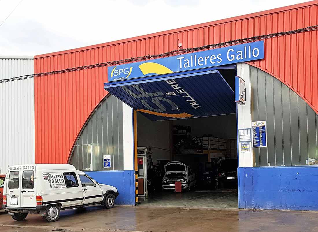 Talleres Gallo fachada de local
